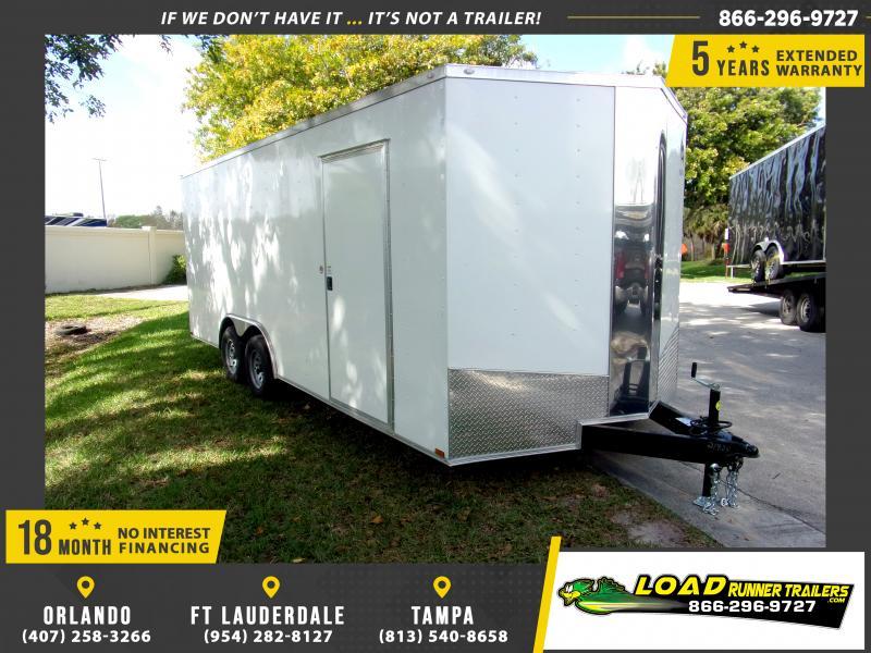 *114047* 8.5x20 Enclosed Cargo Trailer |LRT Tandem Axle Trailers 8.5 x 20