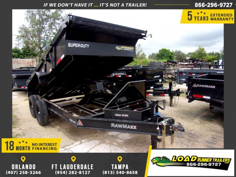 *117345* 7x14 Dump Trailer |LRT Tandem Axle Trailers 7 x 14