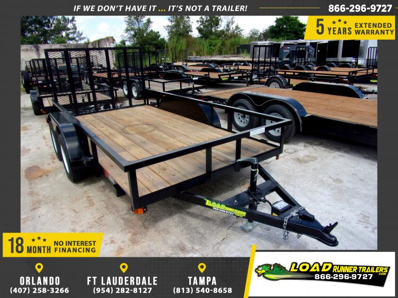 *117469* 6x12 Tandem Axle Utility Trailer With Brakes 6 x 12