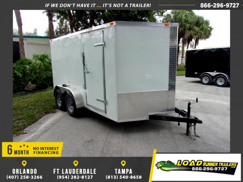 *113808* 7x12 Enclosed Cargo Trailer |LRT Tandem Axle Trailers 7 x 12