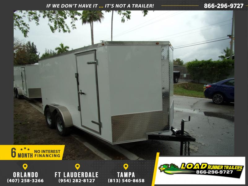 *114904* 7x14 Enclosed Cargo Trailer |LRT Tandem Axle Trailers 7 x 14
