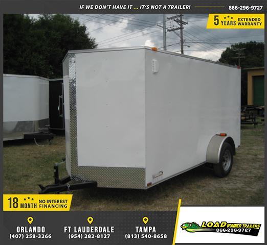 *E4E* 6x12 Enclosed Cargo Trailer SA LR Plumber Trailers 6 x 12 | EV6-12S3-R