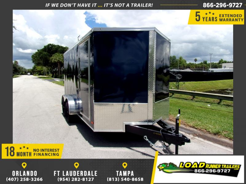 *110017* 7x14 Enclosed Cargo Trailer |LRT Tandem Axle Trailers 7 x 14