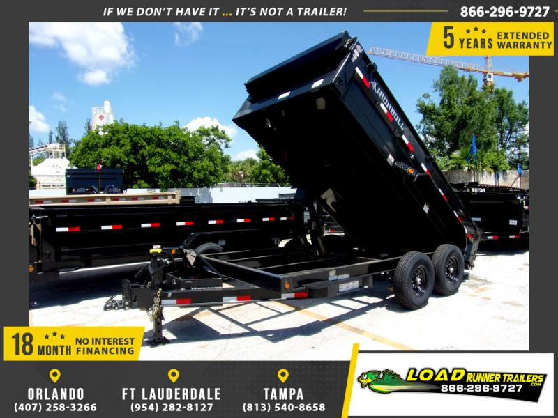 *110320* 7x14 Dump Trailer |LRT Tandem Axle Trailers 7 x 14