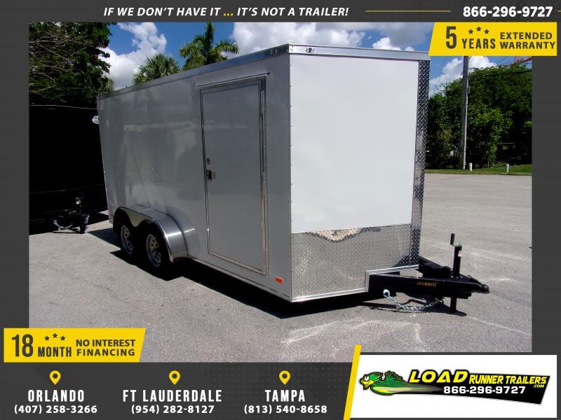 *E8D* 7x14 Enclosed Cargo Trailer |LRT Tandem Axle Trailers 7 x 14 | EV7-14T3-R