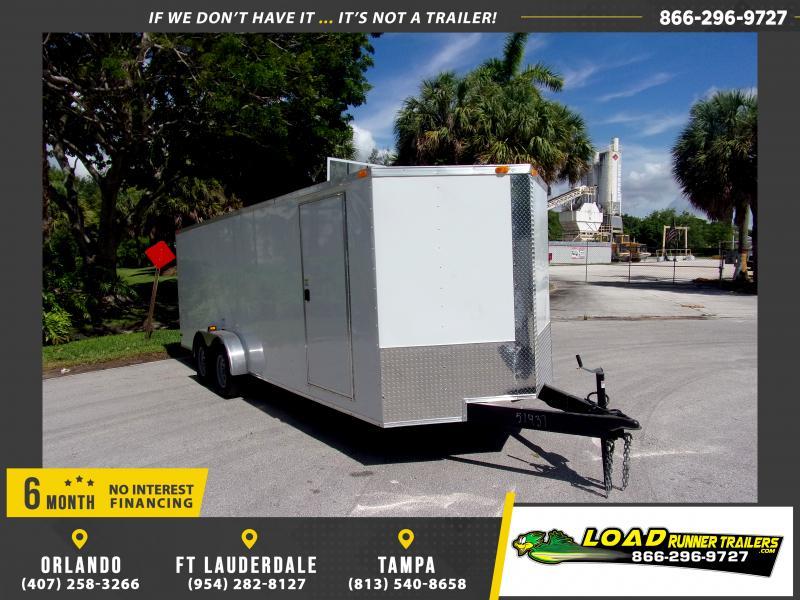 *115735* 7x20 Enclosed Cargo Trailer |LRT Tandem Axle Trailers 7 x 20