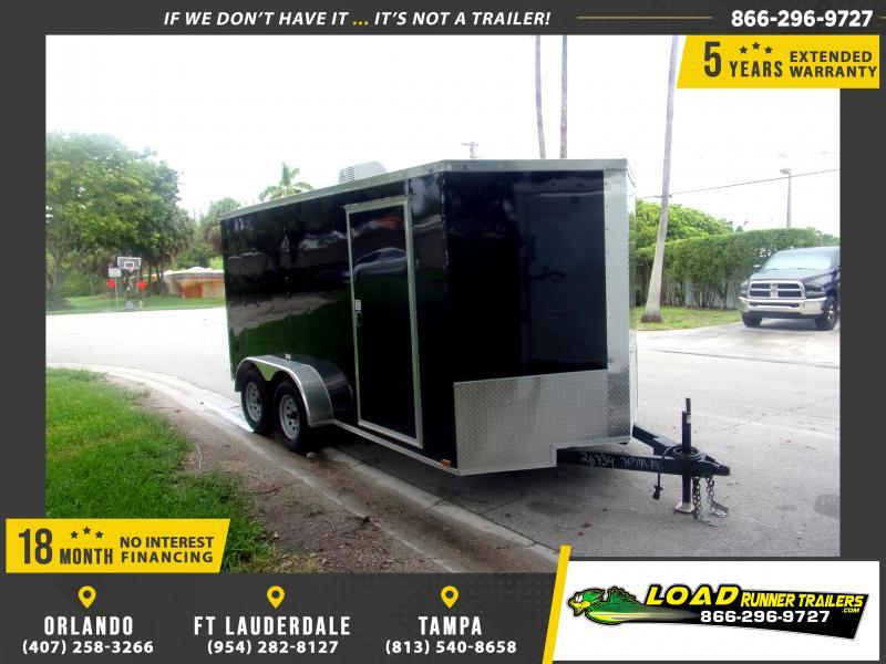 *117374* 7x14 Enclosed Cargo Trailer |LRT Tandem Axle Trailers 7 x 14
