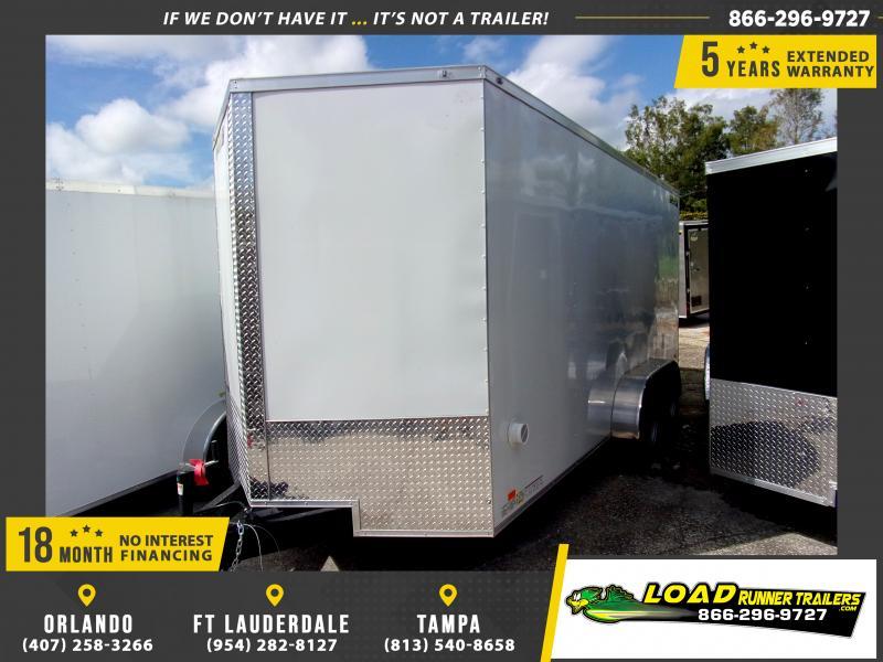 *117728* 7x16 Enclosed Cargo Trailer |LRT Tandem Axle Trailers 7 x 16