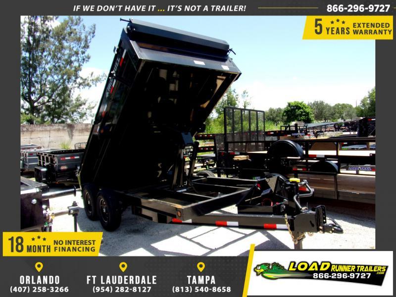 *113945* 7x14 Dump Trailer |LRT Tandem Axle Trailers 7 x 14
