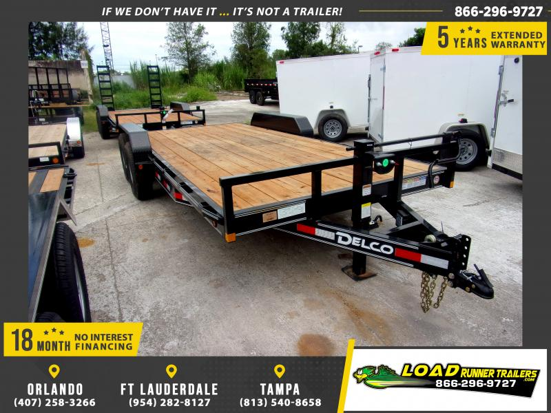 *110586* 7x18 Car Trailer |LRT Tandem Axle Trailers 7 x 18
