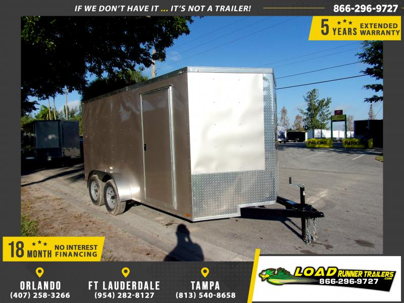 *112880* 7x14 Enclosed Cargo Trailer |LRT Tandem Axle Trailers 7 x 14