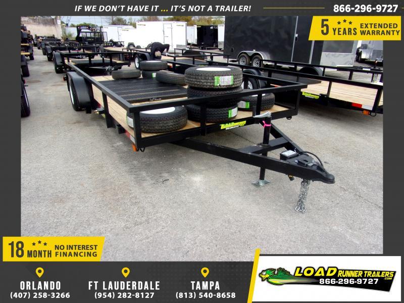 *113906* 7x16 Utility Lawn ATV Multipurpose Trailer  LRT Tandem Axle Trailers 7 x 16