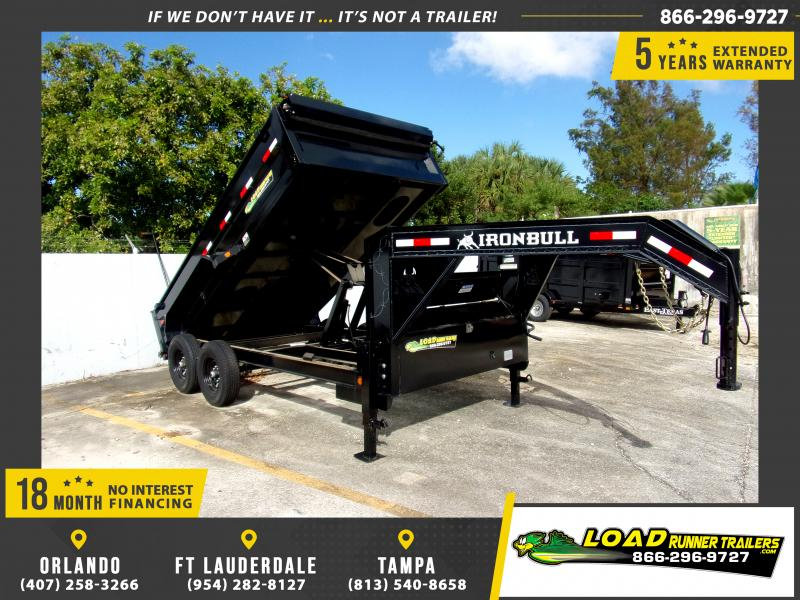 *115355* 7x14 Gooseneck Dump Trailer  LRT Tandem Axle Trailers 7 x 14