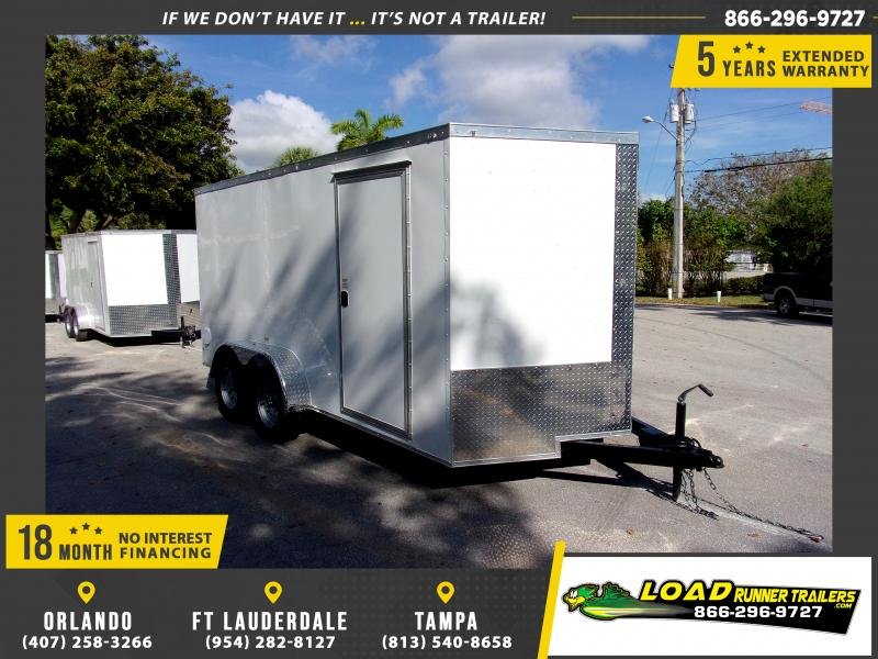 *114448* 7x14 Enclosed Cargo Trailer |LRT Tandem Axle Trailers 7 x 14