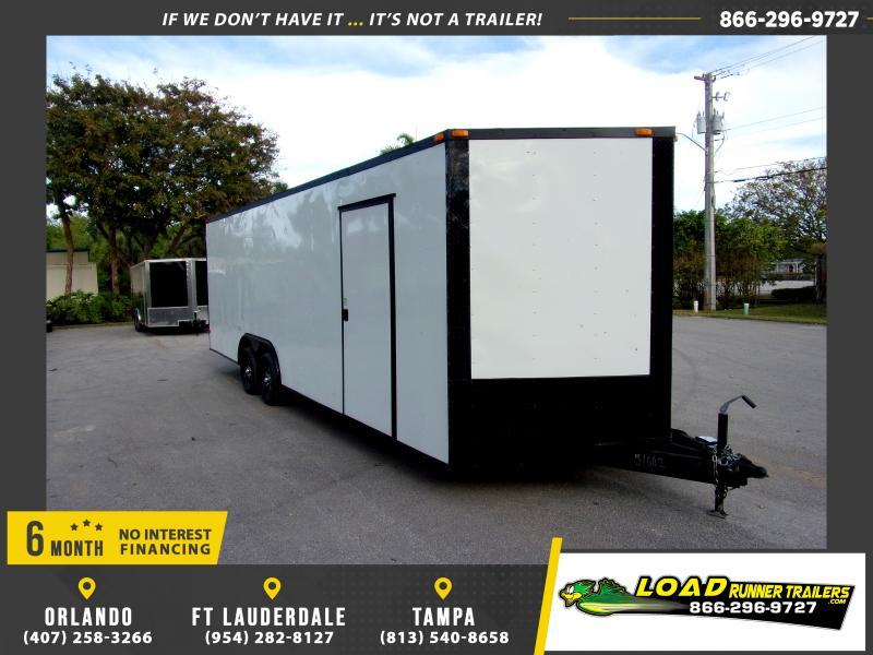 *114618* 8.5x24 Enclosed Cargo Trailer |LRT Tandem Axle Trailers 8.5 x 24