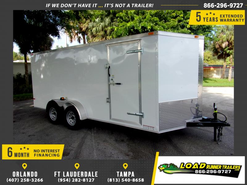 *112064* 7x16 Enclosed Cargo Trailer |LRT Tandem Axle Trailers 7 x 16