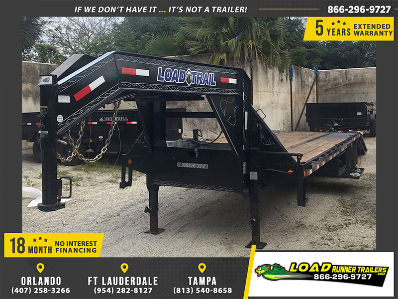 *114320* 8.5x32 Gooseneck Flatbed Deck Over Trailer |LRT Haulers & Trailers 8.5 x 32