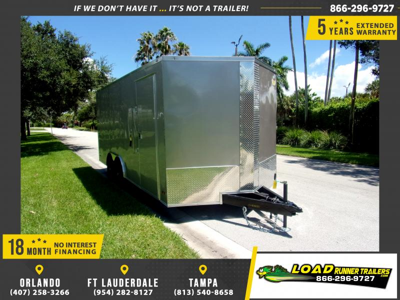 *111082* 8.5x18 Enclosed Cargo Trailer |LRT Tandem Axle Trailers 8.5 x 18