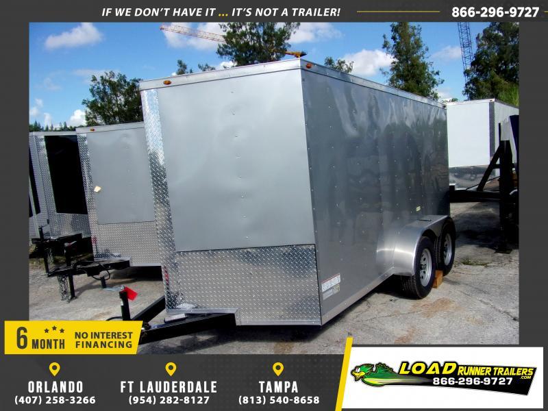 *117769* 7x12 Enclosed Cargo Trailer  LRT Tandem Axle Trailers 7 x 12