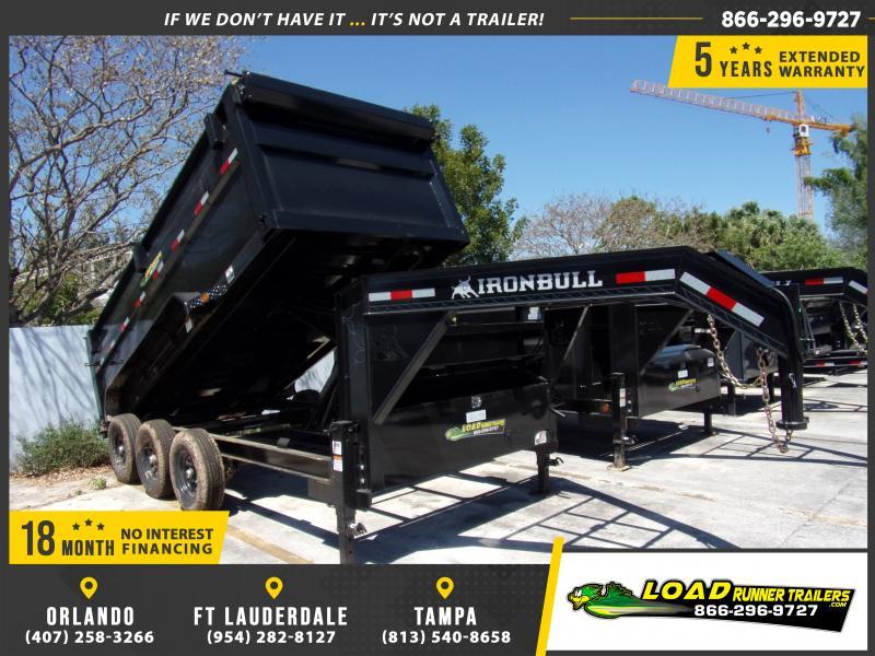 *114513* 7x16 Gooseneck Dump Trailer |LRT Tandem Axle Trailers 7 x 16
