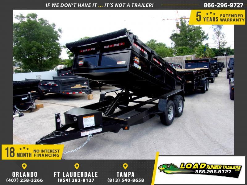 *115861* 6x12 5 TON Dump Trailer |LRT Trailers & Dumps 6 x 12