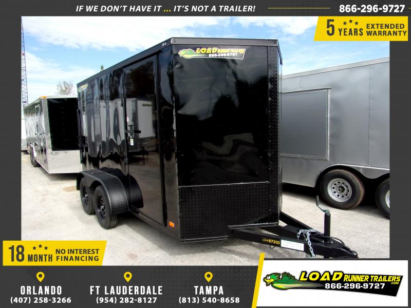 *112672* 6x12 Enclosed Cargo Trailer |LRT Tandem Axle Trailers 6 x 12