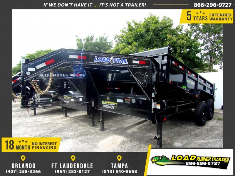 *116762* 7x14 Gooseneck Dump Trailer |LRT Tandem Axle Trailers 7 x 14