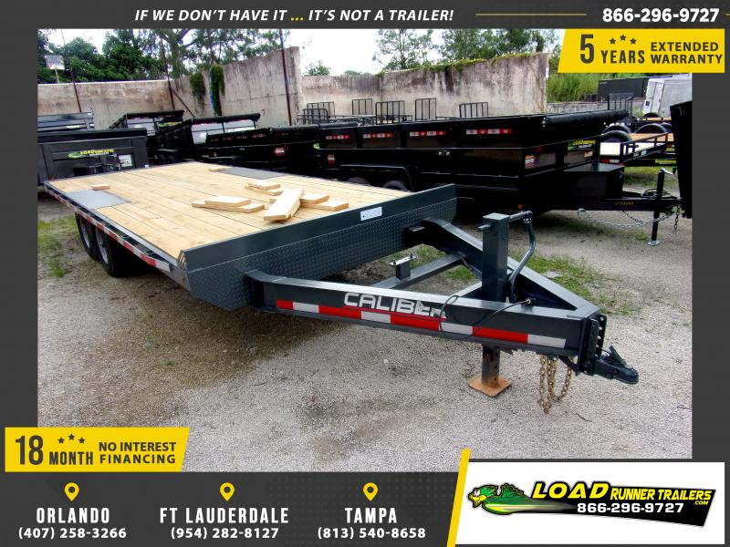 *116704* 8.5x20 Flatbed Deck Over Trailer  LRT Tandem Axle Trailers 8.5 x 20