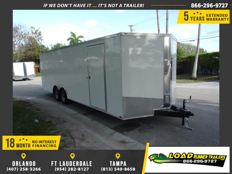 *114980* 8.5x24 Enclosed Cargo Trailer |LRT Tandem Axle Trailers 8.5 x 24
