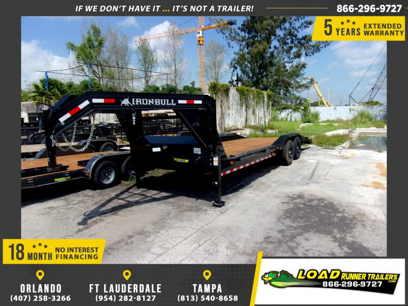 *113740* 8.5x24 Gooseneck Car Trailer |LRT Tandem Axle Trailers 8.5 x 24