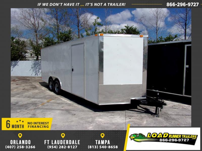 *115709* 8.5x20 Enclosed Cargo Trailer |LRT Tandem Axle Trailers 8.5 x 20