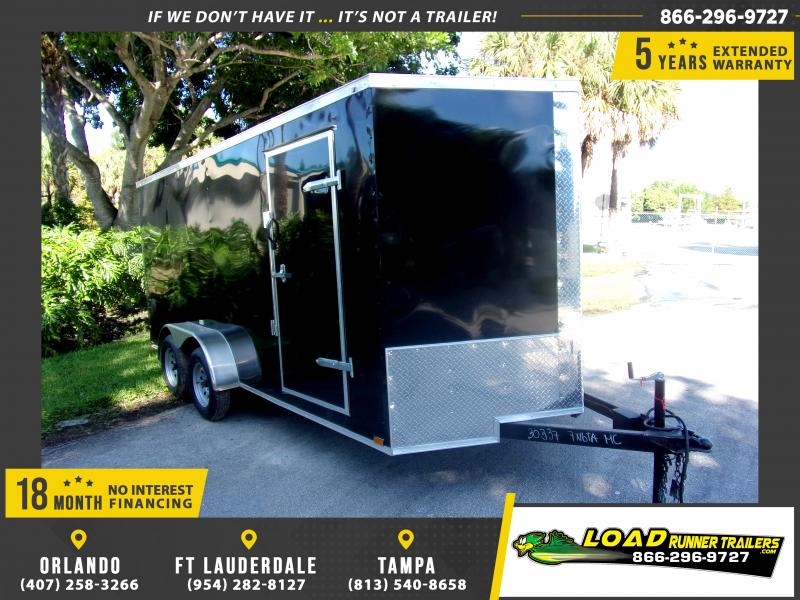 *118136* 7x16 Enclosed Cargo Trailer |LRT Tandem Axle Trailers 7 x 16
