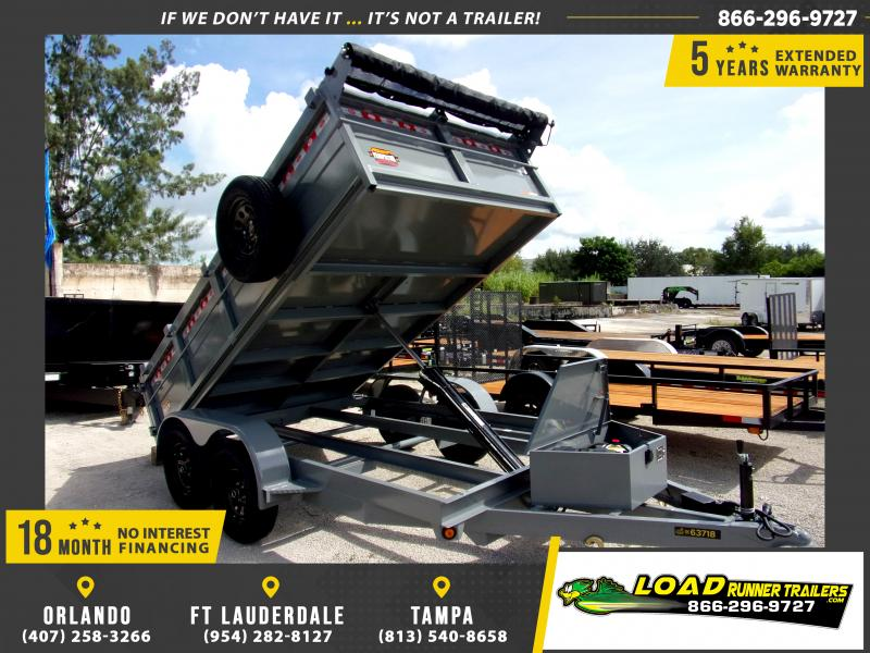"*111350* 6x12 7K Dump Trailer W/27"" Sides 6 x 12"