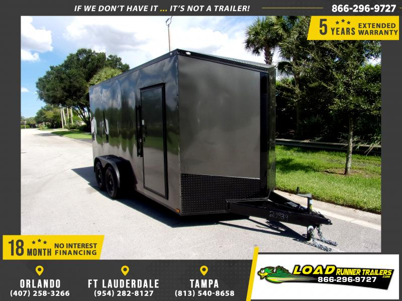 *110964* 7x16 Enclosed Cargo Trailer |LRT Tandem Axle Trailers 7 x 16