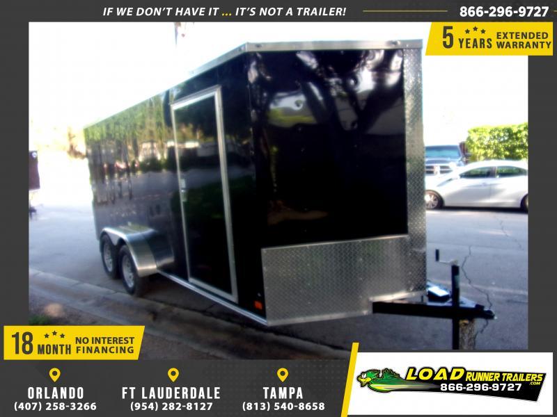 *117580* 7x16 Enclosed Cargo Trailer |LRT Tandem Axle Trailers 7 x 16