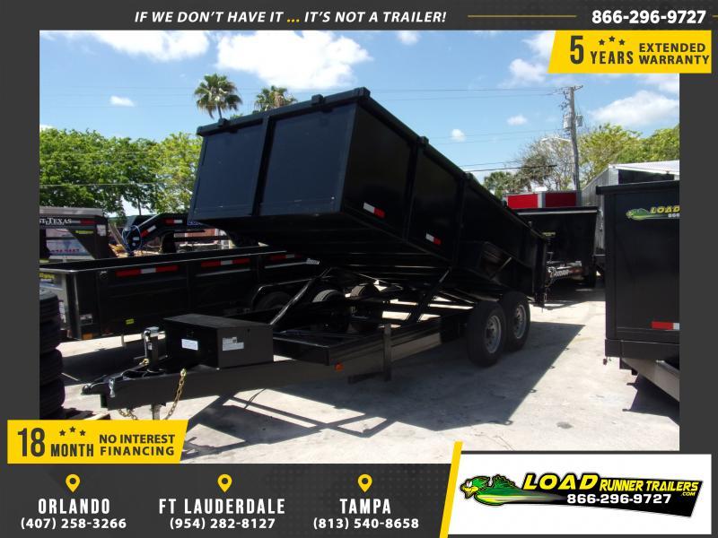 *114986* 7x16 Dump Trailer |LRT Tandem Axle Trailers 7 x 16