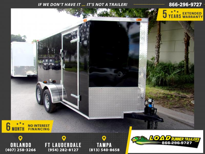 *111263* 6x12 Enclosed Cargo Trailer |LRT Tandem Axle Trailers 6 x 12