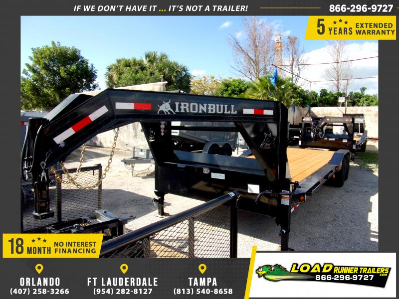 *113741* 8.5x26 Gooseneck Car Trailer |LRT Tandem Axle Trailers 8.5 x 26