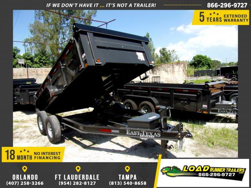 *117038* 7x14 Dump Trailer |LRT Tandem Axle Trailers 7 x 14