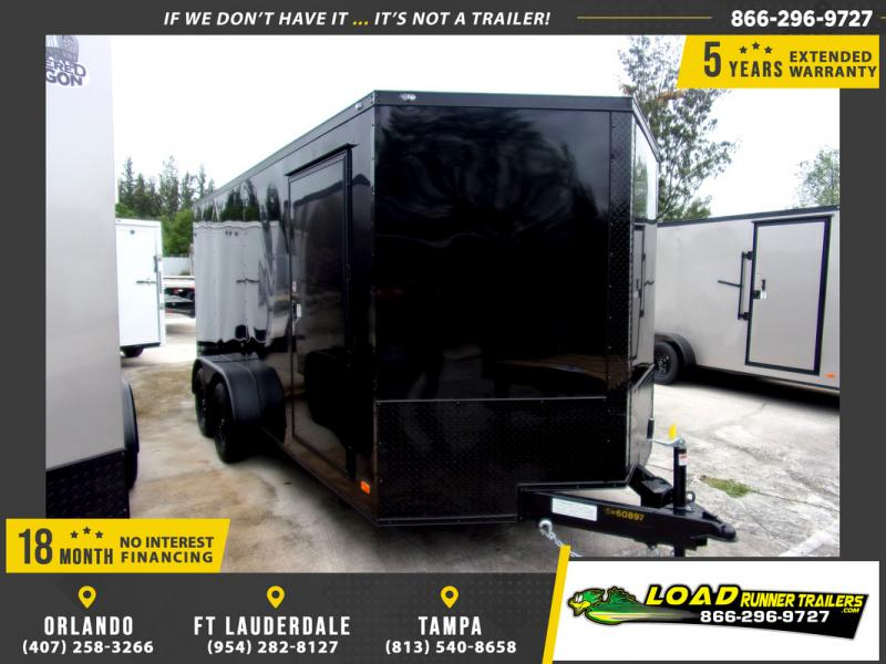 *109776* 7x16 Enclosed Cargo Trailer |LRT Tandem Axle Trailers 7 x 16