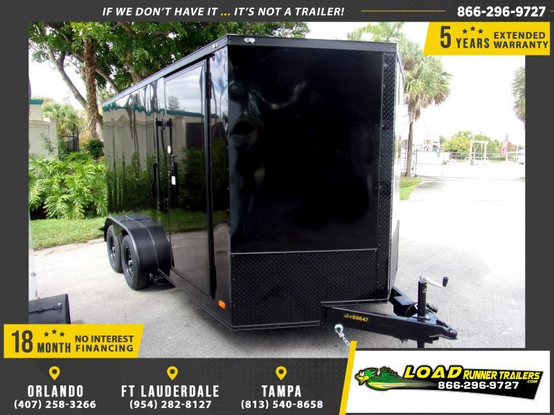 *112990* 7x14 Enclosed Cargo Trailer |LRT Tandem Axle Trailers 7 x 14