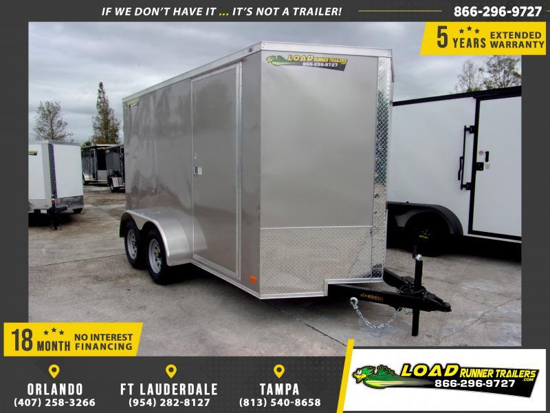 *112573* 6x12 Enclosed Cargo Trailer  LRT Tandem Axle Trailers 6 x 12