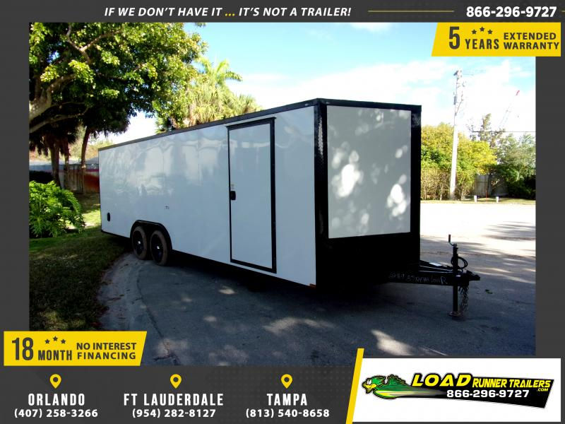 *113745* 8.5x24 Enclosed Cargo Trailer |LRT Tandem Axle Trailers 8.5 x 24