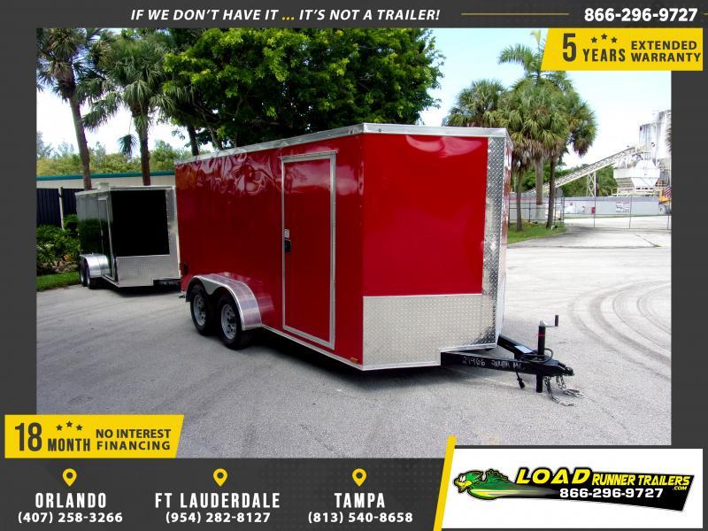 *117342* 7x14 Enclosed Cargo Trailer |LRT Tandem Axle Trailers 7 x 14
