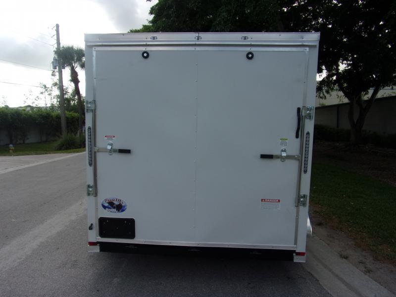 *115830* 7x12 Enclosed Cargo Trailer |LRT Tandem Axle Trailers 7 x 12