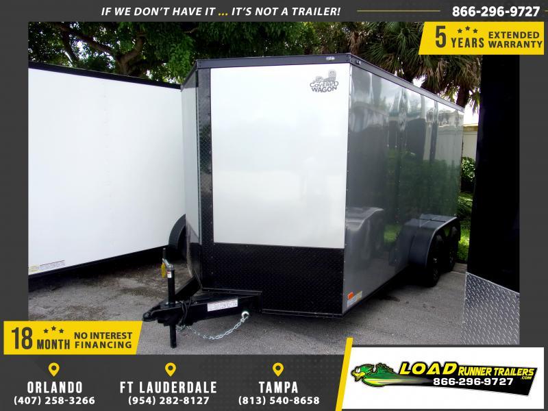 *112136* 7x14 Enclosed Cargo Trailer |LRT Tandem Axle Trailers 7 x 14