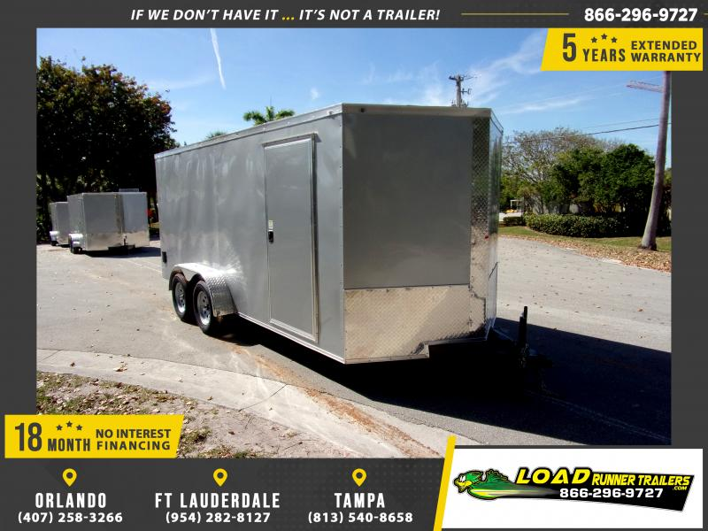 *114545* 7x16 Enclosed Cargo Trailer |LRT Tandem Axle Trailers 7 x 16