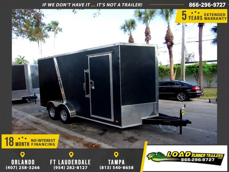 *114580* 7x16 Enclosed Cargo Trailer |LRT Tandem Axle Trailers 7 x 16