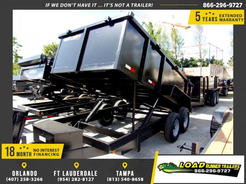 *114560* 7x14 Dump Trailer |LRT Tandem Axle Trailers 7 x 14