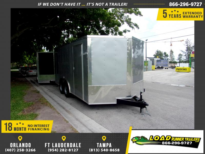 *111043* 8.5x16 Enclosed Cargo Trailer |LRT Tandem Axle Trailers 8.5 x 16